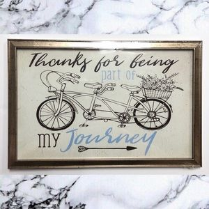 Thanks for being part of my journey wall art decor